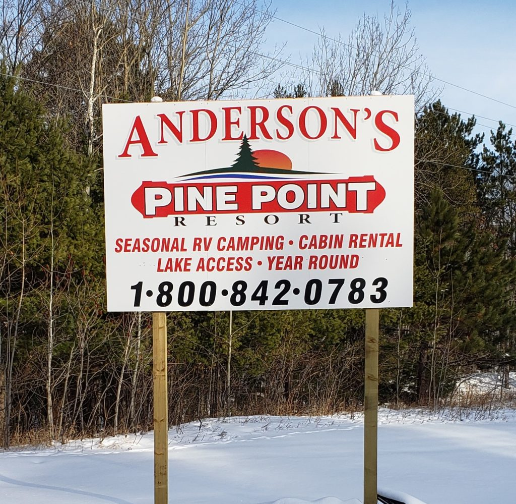 pine point sign